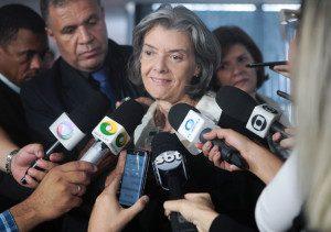 Presidente do STF, ministra Cármen Lúcia, concede entrevista, após sua posse no dia 12 de outubro. Foto: Rosinei Coutinho/SCO/STF (12/10/2016)