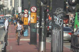 Benefícios da caminhada e da bicicleta superam malefícios da poluição do ar