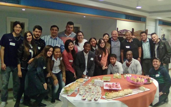Alunos de engenharia civil da UNIP Campus Tatuapé. Foto: Divulgação (professor Scheidt)