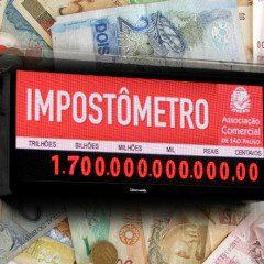 """""""De real em real"""", o governo enche os cofres: Impostômetro já ultrapassa 1,7 trilhão"""