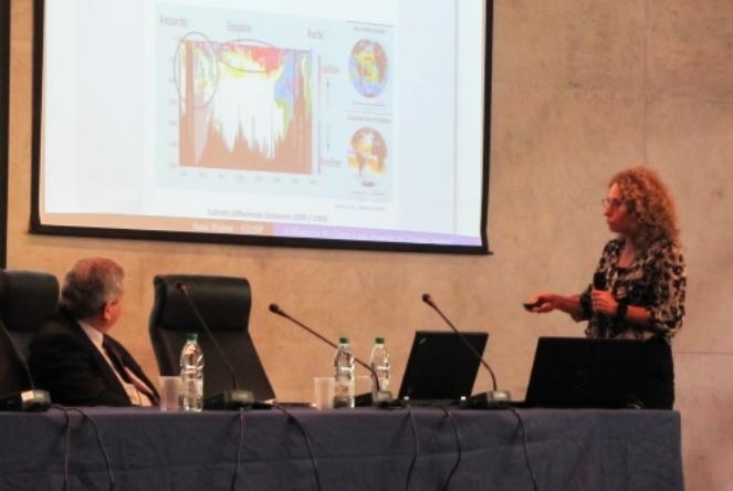 Ilana Wainer, professora do Departamento de Oceanografia Física do Instituto Oceanográfico da USP, na FAPESP Week Montevideo. Foto: divulgação / FAPESP