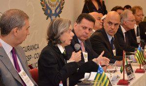 Abertura do 4º Encontro do Pacto Integrador de Segurança Pública Interstadual e da 64 Reunião do CONSESP. Fotos: Eduardo Ferreira / Governo de Goiás