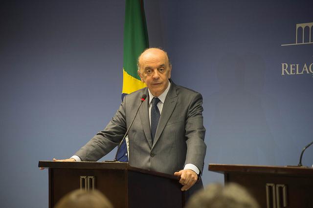José Serra no Palácio do Itamaraty: pedido de demissão causou tristeza ao ministro, mas foi inevitável devido problemas na coluna. Foto: Camilla Krishna/AIG-MRE