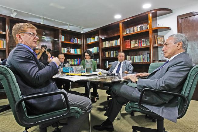 Entrevista para  o jornal Financial Times. Foto: Beto Barata/PR (São Paulo - SP, 31/01/2017)