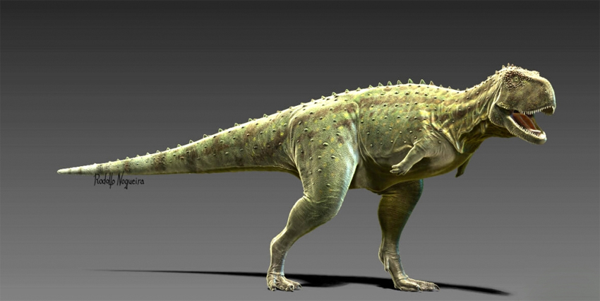 """""""Dinos do Brasil"""" permite que visitantes façam uma expedição virtual pela pré-história e conheçam algumas das 30 espécies de dinossauros que viveram em regiões hoje ocupadas por estados como o de São Paulo. ilustração: Pycnonemosaurus nevesi/Rodolfo Nogueira"""