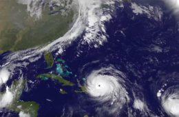 Acompanhe o movimento dos furacões
