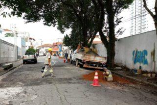 Boa notícia: a Sabesp vem fazendo reparos na rede para melhorar a água