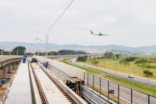 Tem início instalação das últimas vigas da Linha 13-Jade da CPTM