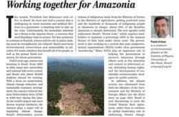 Defesa da Amazônia é tema de editorial publicado na revista Science por Paulo Artaxo