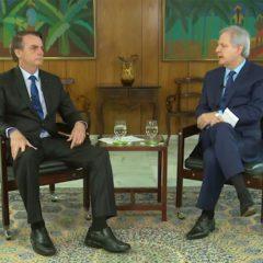 Presidente Bolsonaro concede entrevista à Jovem Pan: balanço dos 100 dias de governo