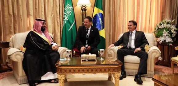 Em Riade, presidente Bolsonaro encontra-se com príncipe herdeiro da Arábia Saudita
