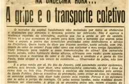 Epidemias e o transporte público nos clippings da Light