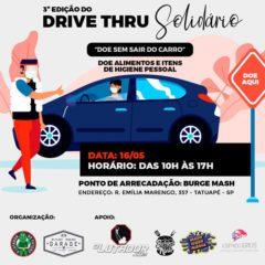 3º Drive Thru Solidário acontece neste sábado (16) na Rua Emília Marengo, vídeo