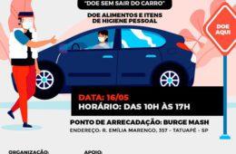 3º Drive Thru Solidário acontece sábado (16) na Rua Emília Marengo