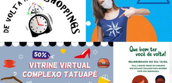 Principais shoppings do Tatuapé e zona Leste reabrem sem aglomerações