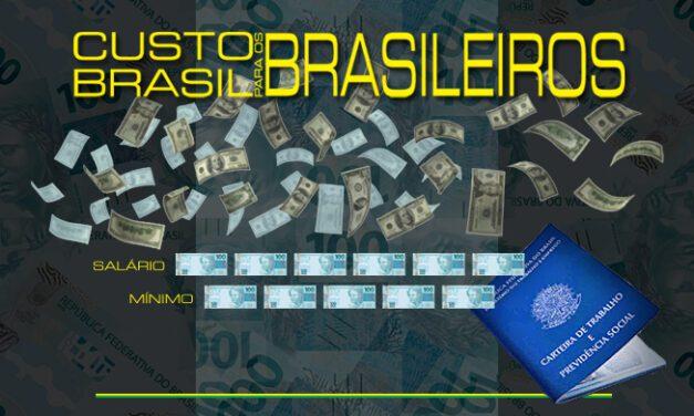 O custo Brasil para os brasileiros