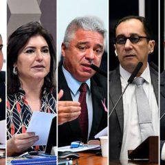 Cinco senadores disputam Presidência do Senado nesta segunda-feira