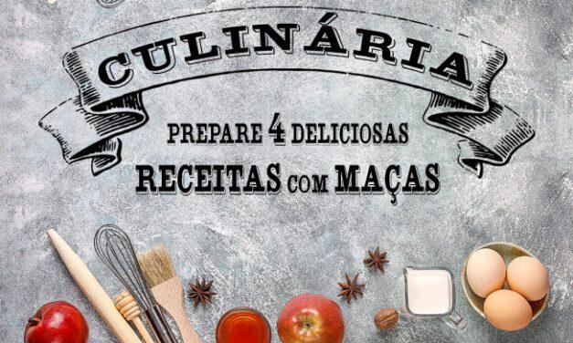 Aprenda a preparar 4 receitas deliciosas com maçãs