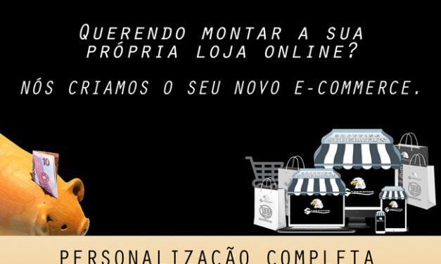 Criamos a sua loja de e-commerce personalizada